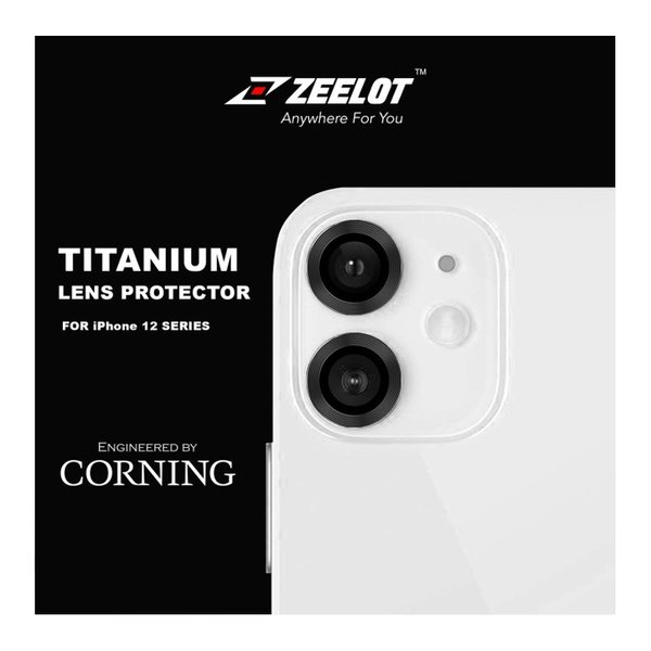 """ZEELOT Titanium Steel with Lens Protector for iPhone 12 6.1""""/12 Mini 5.4""""/iPhone 11 6.1""""(Two Cameras)"""