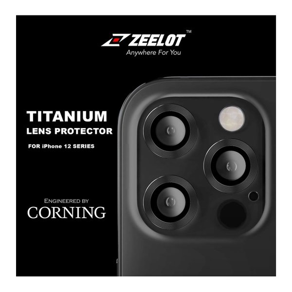 """ZEELOT Titanium Steel with Lens Protector for iPhone 12 Pro Max 6.7""""(Three Cameras)"""