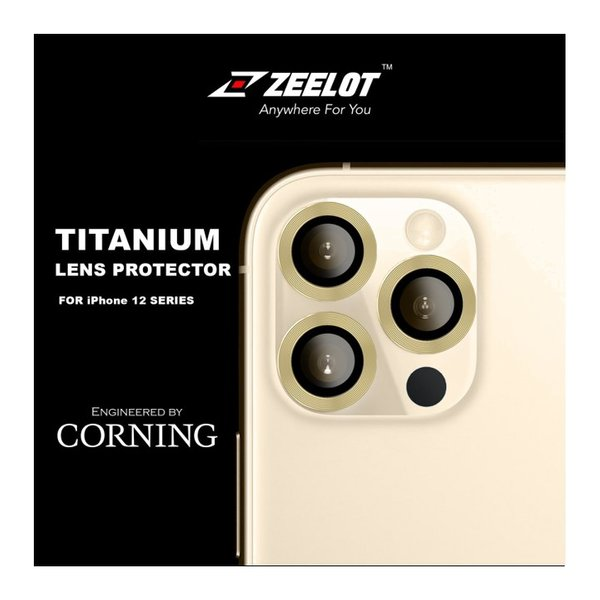 """ZEELOT Titanium Steel with Lens Protector for iPhone 12 Pro 6.1""""(Three Cameras)"""
