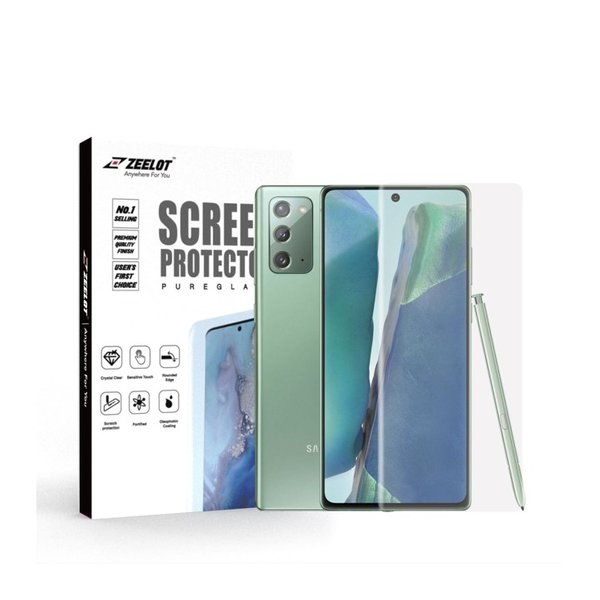 ZEELOT PureGlass 3D Clear LOCA Tempered Glass Screen Protector for Samsung Galaxy Note 20