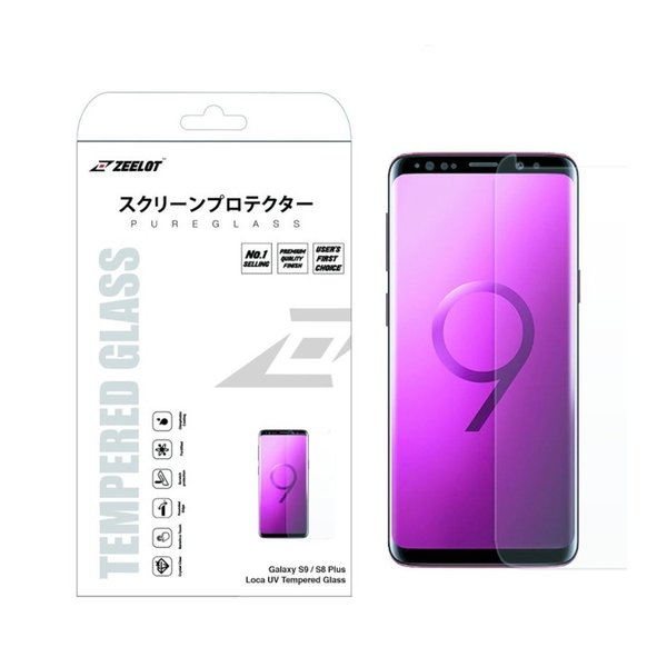 ZEELOT PureGlass 3D Clear LOCA Tempered Glass Screen Protector for Samsung Galaxy S9 Plus/S8 Plus