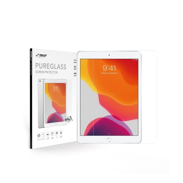 """ZEELOT PureGlass 2.5D Clear Tempered Glass Screen Protector for iPad 10.2"""" (2020/2019)"""