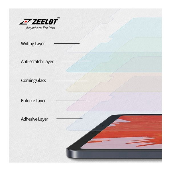 """ZEELOT PureGlass 2.5D Clear Tempered Glass Screen Protector for iPad 9.7""""/Pro 9.7"""" (2018/2013)"""