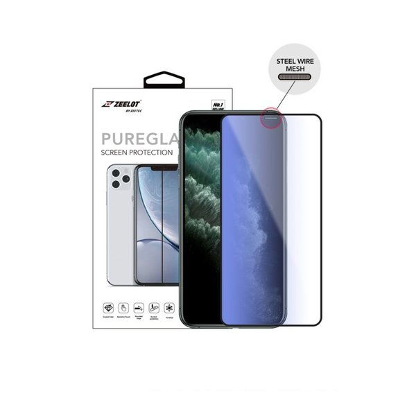 """ZEELOT PureGlass Steel Wire 2.5D Anti Blue Ray Tempered Glass Screen Protector for iPhone XsMax / iPhone 11 Pro Max 6.5""""(2019)"""